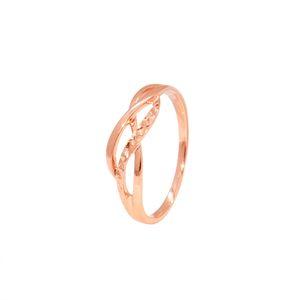 18K rose gold water wave ring au750 tail ring female models