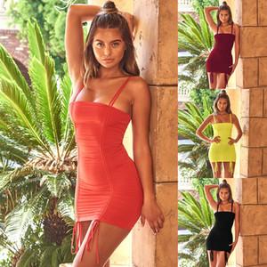 Sommer 2019 neue Strandart kleiden die clother Milchseide der eleganten beiläufigen Frauen dünne reizvolle Kleidrockkleider an
