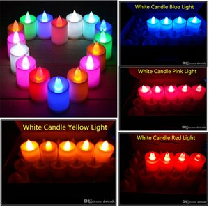 3.5*4.5 cm LED Tealight Tea Candles Flameless Light Battery Operated Wedding Birthday Party Christmas Decoration 50lots send DHL