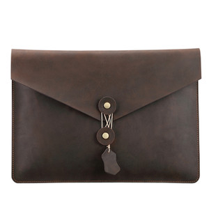 2019 high quality Waterproof real Leather Clutch Bag for Macbook Pro A1989 Digital Computer Case sleeve