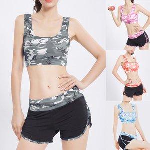2pcs Seamless camouflage Trainning Set sportivo Sport Bra + Pantaloncini fitness Pants funzionamento di ginnastica Suit Esercizio abbigliamento sportivo # g2
