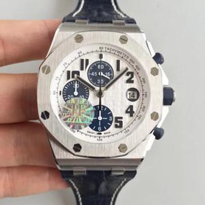2019 Yeni JF En Kaliteli Lüks Otomatik Chronograph 26170 Mens Watch Eta Cal. 7750 Hareketi Buzağı deri kayış Erkekler mekanik saatler