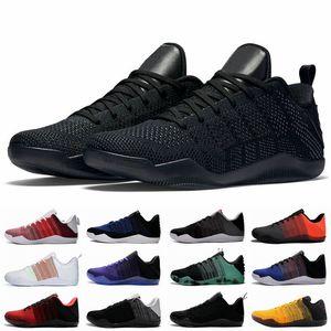 Black Mamba 11 Elite Baixa FTB Homens tênis de basquete Bruce Lee BHM Red Horse 11s 4KB Sports Designer Sneakers Com Box Tamanho 7-12