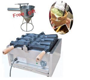 Satılık ücretsiz nakliye 3 adet Dondurma Taiyaki Yapma Makinası Balık koni makinesi