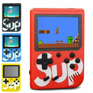 SUP juegos de consola portátiles Mini caja portable del juego juego de reproductor de vídeo clásico de 3,0 pulgadas de pantalla a color de 400 juegos de salida de AV con el paquete caja al por menor