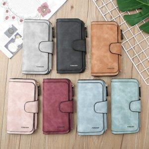 Womens multi-funzione la Designer Leather Wallet piccole smerigliato grande capacità Portafoglio carta pochette moda all'ingrosso di qualità superiore