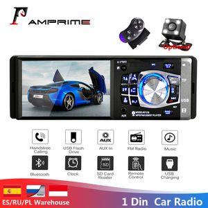 "AMPrime 1 딘 4.1 ""자동차 라디오 Autoradio 스테레오 FM 블루투스 USB AUX FM 라디오 MP3 오디오 플레이어 지원 카메라 원격 제어 4012B 자동차 DVD"