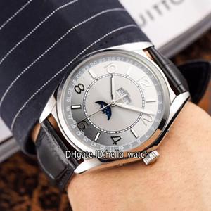 Pas cher New Fiftysix Calendrier Pleine Lune Phase cadran gris 4000E / 000A-B439 automatique Montre Homme 316L boîtier en acier avec bracelet en cuir Montres Hello_watch