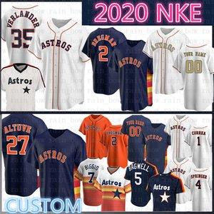 José Altuve Houston Astros Justin Verlander personalizada Jersey de béisbol Alex Bregman Nolan Ryan Craig Biggio Jeff Bagwell George Springer Correa