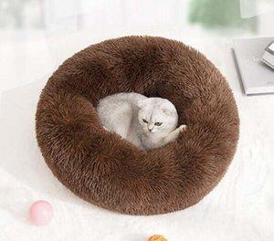 Casa Redonda Gato Cama Cama larga suave felpa mejor mascota para los perros integración de la canasta del amortiguador del gato Mat Animales Sofá