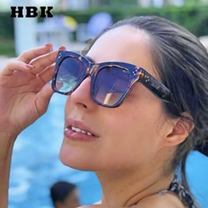 HBK Cat Eye Солнцезащитные очки Modis Vintage feminino 2019 Женщины Brand Leopard Солнцезащитные очки UV400