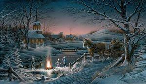Terry Redlin Condivisione della stampa Oil Evening decorazione domestica dipinta a mano HD Pittura su tela di canapa di arte della parete della tela di canapa Immagini 200316