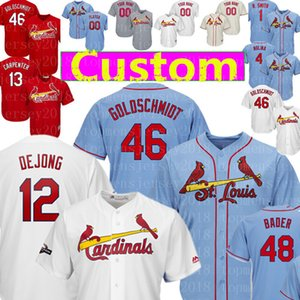 Custom 12 Pablo DeJong 61 Génesis Cabrera 46 Paul Goldschmidt Jersey 13 60 Matt Carpenter John Harrison Brebbia 48 Bader 13 Matt Carpenter
