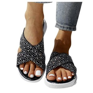 Women's Slippers Comfortable Leisure Trend Ladies Fashion Casual Studded Open Toe Platforms Shoes personality Outdoor Slippers