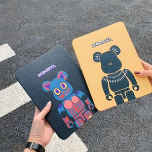 3D Cartoon Violet Bear Leather Wallet Pouch Cover Graffiti Bracket Holster Shell for iPad 10.2'' 9.7'' 7.9'' 10.5''