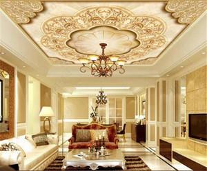 Painel de parede Wallpaper Estilo Europeu Flor Folha rolo teto Mural Bedroom Decor parede personalizado Sala Atacado parede Papers