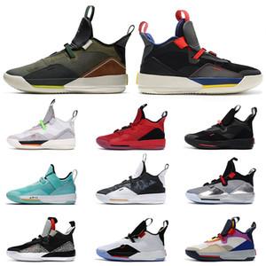 2020 Yeni Jumpman 33 33s XXXIII Tech Paketi Travis Erkek Basketbol Ayakkabı Geniş Gri Koyu Gri Kamuflaj Görünür Yardımcı Sneakers Sport Eğitmenler x