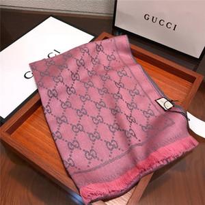 Designer lenço de seda da marca cachecol Ladies macia Super Luxo Inverno Cashmere Scarf Pashmina Para Mulheres Marca Designer Mens Aqueça Plaid 48 * 180cm