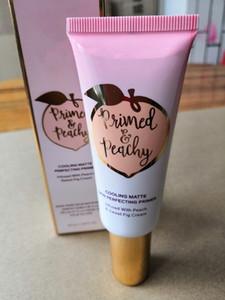 Il più nuovo! Commercio all'ingrosso pesca mignolo Prime Peachy raffreddamento del latte Matte Perfecting Primer Crema Pre-trucco 40ML trasporto veloce