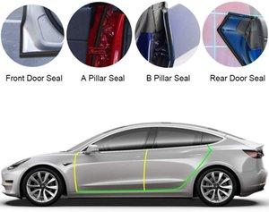 Tesla Model 3 Porta Seal Kit Soundproof Rubber Tempo Projecto Seal Faixa de vento Noise Reduction Kit