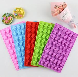 Dinozor Sakızlı Kalıp Silikon yapışmaz BPA Ücretsiz Gummie Şeker Çikolata Kalıpları Ice Cube Dinozorlar Jelatin Tepsiler
