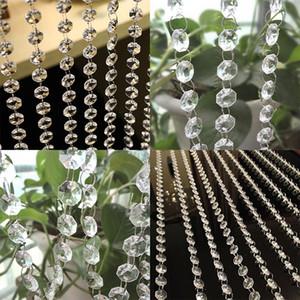 Cortina de cristal Nueva cortina de cuentas de cristal de 100 cm Sala de estar de lujo Dormitorio Ventana Puerta Decoración de la boda Drop Ship