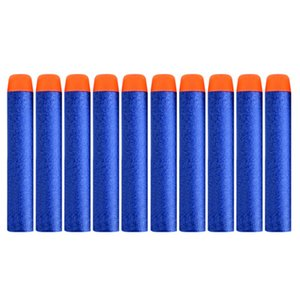 100PCS Blue For Nerf Bullets Solid Round Head 7.2cm Refill Darts Kids Toy Gun Accessories Bullet for Nerf Series Blasters
