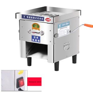 Commercial Meat Slicer en acier inoxydable entièrement automatique 850W Shred Slicer Dicing machine électrique Coupe-légumes Moulin