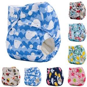 Pano fraldas reutilizáveis Pant ajustável infantil Diaper lavável Fraldas infantis abranger a formação do envoltório camada lavável Fraldas de pano