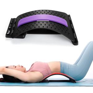 Volver masaje muscular Camilla corrector de la postura Hombres Mujeres estiramiento Relax Camilla Ayuda Lumbar Spine alivio del dolor quiropráctica