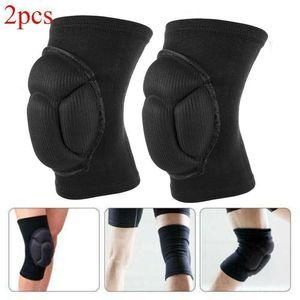 2PC Knee Pad Ginocchiera Knee Brace Support Protector Calcio Pallavolo Sport Pad
