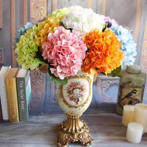 Branche Fleurs artificielles soirée de mariage Hydrangea Bouquet unique en tissu de soie artificielle Faux Floral Fleurs Plantes Fleurs séchées