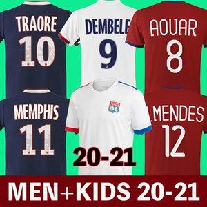 20 21 Olympique Lyonnais lyon soccer jersey 2020 2021 Lyon football shirt  TRAORE MEMPHIS AOUAR MENDES