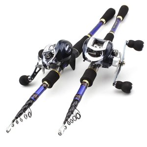 1.8M-2.7M carbon Trout lure rod Casting Rods and CastingReels Fishing Set Travel Tackle fishing set Rod