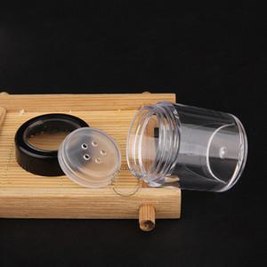 10g al por mayor de alta calidad de plástico transparente en polvo Tarro Con tornillos de la tapa vacío PS envases cosméticos Muestra Pot caja 80pcs / lot