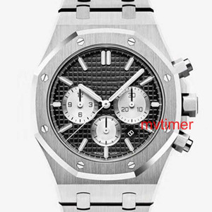 Luxus Herrenuhr Rose Gold Edelstahl-Mann-Entwerfer-Uhr Royal Oaks Armbanduhr Herren japanische Quarz-Chronograph Uhren Orologio