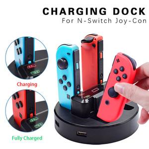 4 en 1 de carga Interruptor Muelle para Nintendo Joycon Controller puesto de cambio de la estación de cargador para el N-Switch Joycon cargador para Nintend