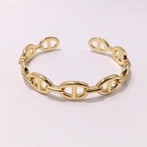 Monili di lusso delle donne del progettista Braceletsbangles polsino H bracciali aragosta fibbia suina muso amore braccialetti tre colori di moda