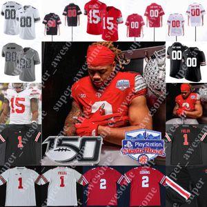 2020 Playoff 4XL Ohio State Buckeyes Football Jersey Chris Olave 72 Togiai Tuf Borland Austin Mack Meister Teague III Damon Arnette Jr