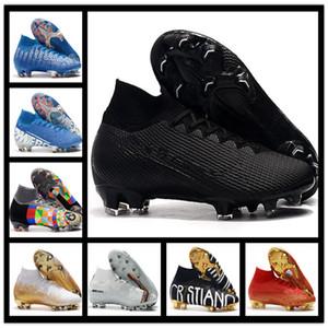 Erkek futbol cleats Mercurial Superfly V Ronalro FG kapalı futbol ayakkabı çocuklar futbol çizmeler cr7 erkek neymar çizmeler Yükselen Hızlı Paketi ucuz