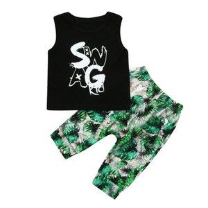 Mode Enfant Enfant Bébé de filles de garçon cool + veste camouflage Tops sans fil Pantalons Sunsuit Tenues Sets d'été