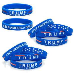 Donald Trump 2020 Silikon-Armband Keep America Großer Armband US General Election Bangle weiche Sport-Band