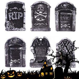 Halloween espuma lápide decoração casa assombrada RIP Pedra Props Partido Grisly Decor esqueleto Tombstone Quintal Decoração