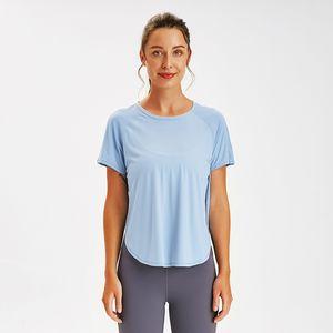 lU lu şort Yoga gömlek kadın egzersiz elbise lu gömlek gevşek spor salonu giyim vücut geliştirme marka gömlek tankı üstleri
