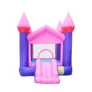 Alta Qualidade Atacado inflável Bouncers pequeno Bounce Casa Rosa seguranças infláveis Venda w / ventilador de ar For Kids Início Jogar Fun Castelo