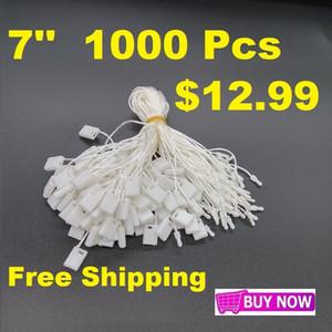 """1000 Piezas / Lote 7 """"Tag Blanco Cauge Tag Nylon Snap Block Pin Loop Faster Sook Lazs Envío gratis"""