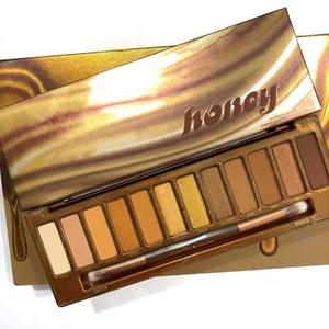 Marca Makeup Palette Sombra Waterproof longa duração mel Eyeshadow Paleta com escova Destaque frete grátis Qualidade superior