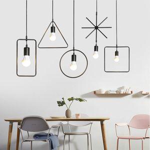 LED Modern Pendant Light For Dining Room Ring Circle Hanglamp Art Pendant Lamp Industrial Lamp Lamparas De Techo Colgante Modern