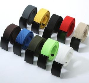 Gli uomini allaccia 2020 Moda Army Unisex Belt tattico cintura in vita 3,8 centimetri di tela Canvas Webbing Cintura all'aperto sport