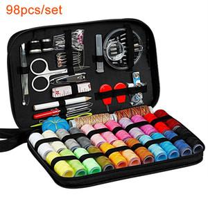 98pcs / set de costura Inicio de herramientas de bricolaje productos hilo de la aguja conjunto combinación de la caja 14.5 * 21 * 4.5cm